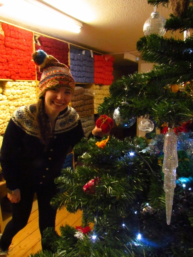 Ella decorating the tree