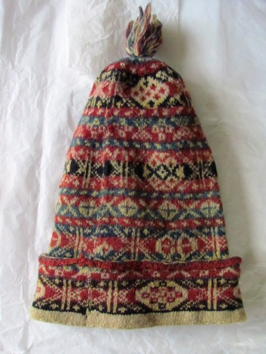 The original Fair Isle Cap from the Shetland Museum and Archives collection