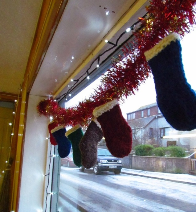 Knitted Santy Socks