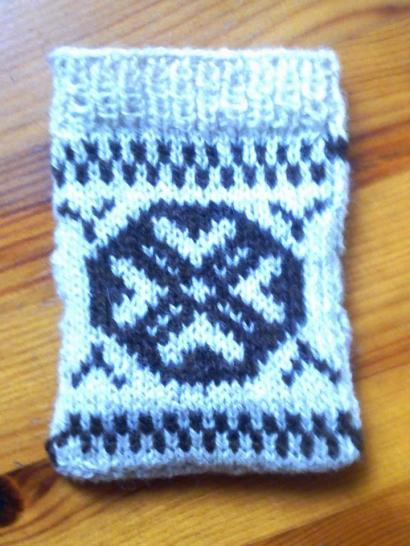 Joanne Clements' knitted pouch from the Fair Isle Masterclass