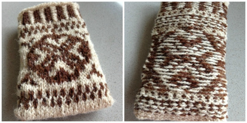 Imke Himstedt's knitted pouch from the Fair Isle Masterclass