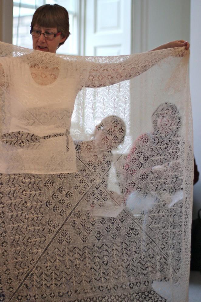Knitting Events London : Sandras royal christening robe
