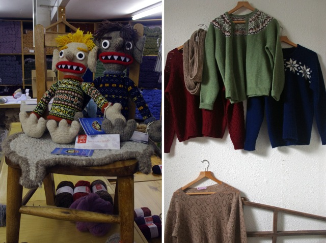 Some new friends, the ill trickit trows, have joined us in the shop and some new garment hang, waiting for their patterns, upstairs in the office
