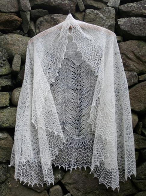 Madeira Lace Knitting Pattern : Shetland Lace in Natural Shetland Wool Shades. Jamieson ...