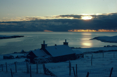 a snowy Shetland scene. Photo courtesy of the Shetland Museum and Archives.