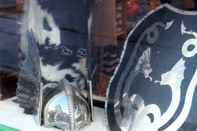 some details of Olivers 2014 suit from my Up Helly Aa window
