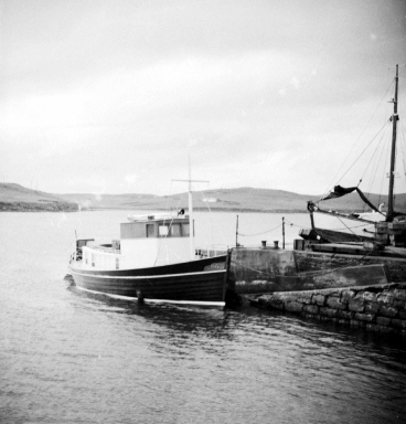 The Burra ferry, the Tirrick. Photo courtesy the Shetland Museum and Archives.