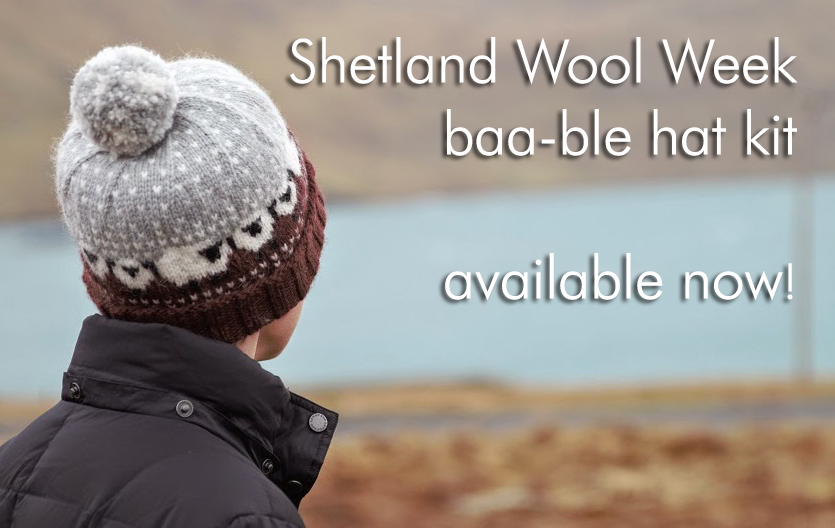 436cfe2c0ca The 2015 Shetland Wool Week pattern is now available! The Baa-ble Hat  designed by this years patron Donna Smith features a wide brim