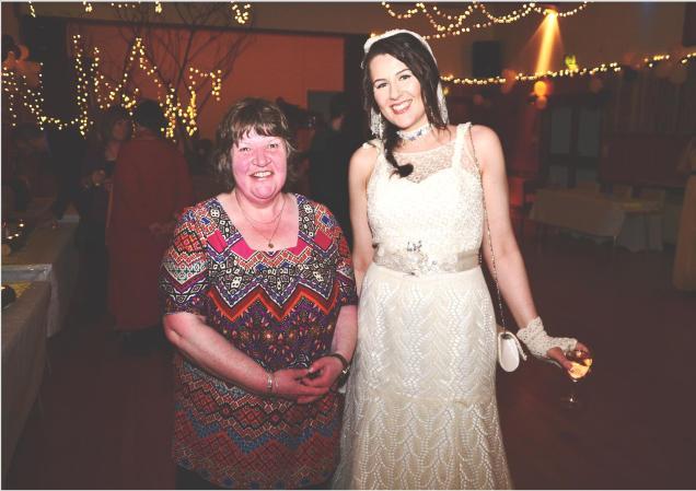 Sheila the designer and Rebecca the bride.