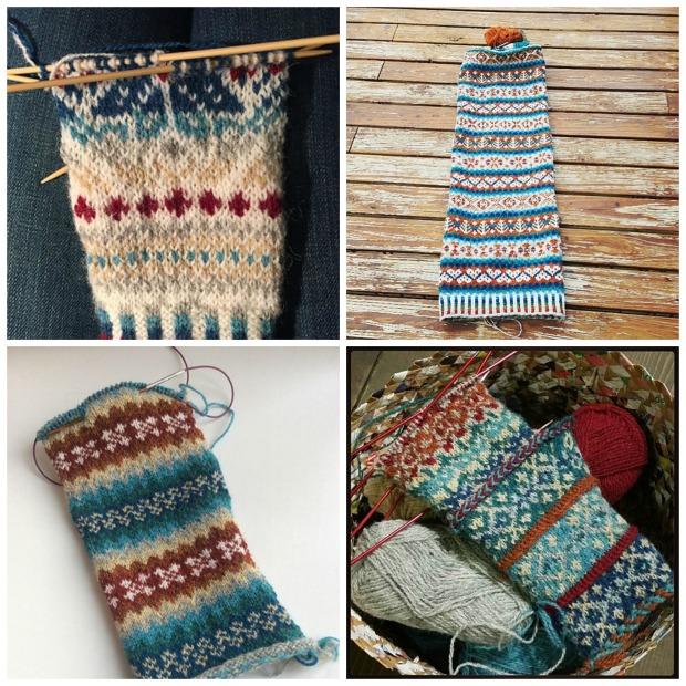 Photos taken from the Winter Woollies KAL thread