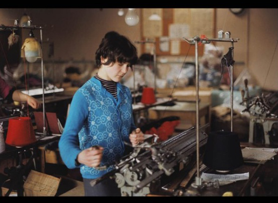 Working in one of the many Knitwear factories. Photo: Unknown