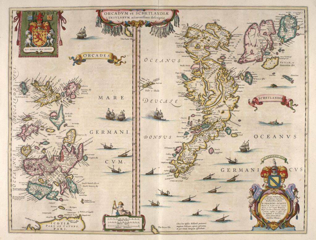 1654 Map of Orkney and Shetland