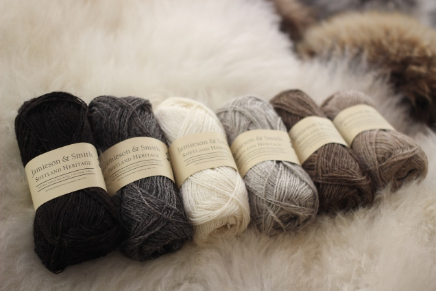 our new Shetland Heritage Naturals are Worsted Spun