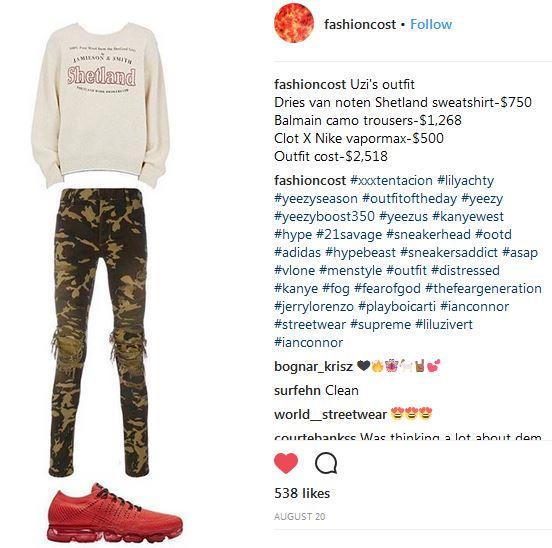 fashion cost